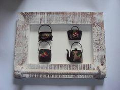 Porta toalha - xícaras R$ 89,00 art decor, diverso em, em artesanato, porta toalha