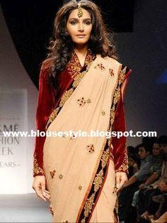 red velvet blouse coat style