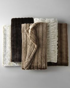 Faux Fur Throws at Neiman Marcus.