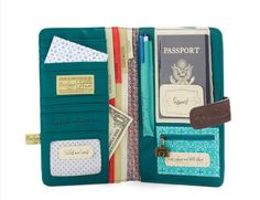 Round Trip Travel Wallet (Modcloth) Literally has a spot for everything.