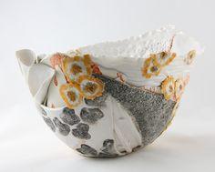 Lichen I handbuilt pottery / ceramic bowl by Marney McDiarmid Ceramic Decor, Ceramic Plates, Ceramic Art, Pottery Bowls, Ceramic Pottery, Pottery Art, Clay Studio, Clay Bowl, Hand Built Pottery