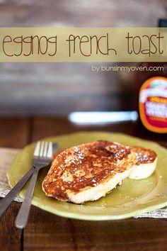Eggnog French Toast #recipe by bunsinmyoven.com