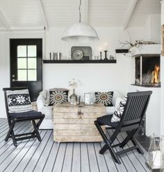 Buy wooden chairs and spray paint bright color
