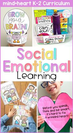 Find all your social emotional development classroom needs in one huge resource filled with 8 units, lesson plans, activities, and games for the Kindergarten, first grade, and second grade classroom. Teach social skills and engage kids in learning about respect, feelings, empathy, growth mindset, responsibility, self regulation, kindness, and friendship. #proudtobeprimary