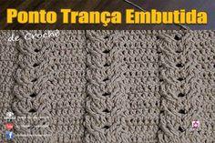 """Bom dia! Aula de hoje """" Ponto de Crochê - Trança Embutida """"  https://youtu.be/w2PyDYYwVRI #crochet #professorasimone #semprecirculo"""
