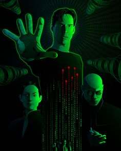 The Matrix Art Print by Nathan Owens