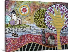 Karla Gerard Premium Thick-Wrap Canvas Wall Art Print entitled Lighthouse I, None