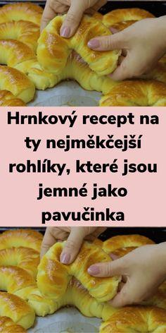 Czech Recipes, Home Baking, Ciabatta, Food Humor, Sweet Desserts, Desert Recipes, Hot Dog Buns, Deserts, Food And Drink