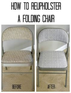 How to reupholster folding chairs with Minted Fabric #Ad - an easy diy project that adds flair and design to your decor