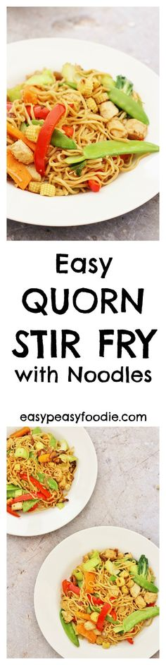 This Easy Quorn Stir Fry is a dish that I have been making for my family for years. I really love stir fries as they are so quick and easy – this one can be made in less than 15 minutes. A stir fry is also a great way to use up leftover vegetables and is