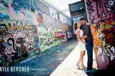 Amanda and Jim's engagement Session at Graffiti Alley and Fells Point in Baltimore Maryland. Engagement Photo Poses, Fall Engagement, Engagement Couple, Engagement Pictures, Engagement Shoots, Engagement Photography, Urban Family Pictures, Boy Maternity Photos, Batman