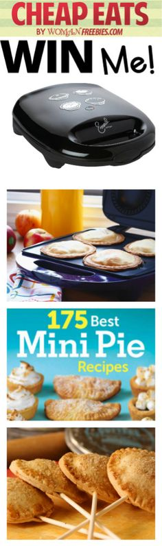 Enter To Win A Mini Pie Prize Pack! FANTASTIC GIVEAWAY! Enter here http://womanfreebies.com/sweepstakes/win-a-mini-pie-prize-pack For Your Chance To Win! You Know That I Definitely Entered! I WANT TO WIN THIS MINI PIE MAKER SO VERY, VERY BAD!!! Thanks, Michele