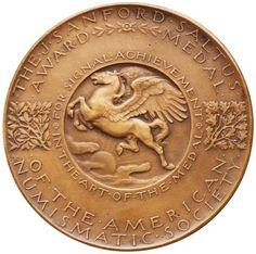 reverse Bronze Medal of American Numismatic Society