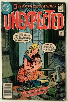 Vintage Comic Book Cover Art / The Unexpected