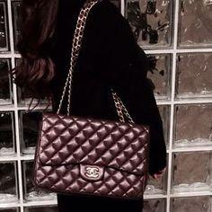 CHANEL Handbags - CHANEL JUMBO FLAP DARK BROWN LAMBSKIN