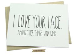 Funny Anniversary Card Love You Card Love Your by GrimmAndProper