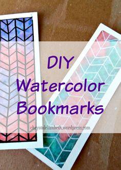 DIY Watercolor Bookmark | chrystalizabeth