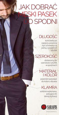 Jak dobrać męski pasek do spodni?  #infografika