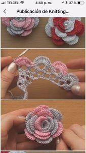Crochet Flowers 90 FREE Crochet Flower Patterns Visit the post for more. Crochet Leaves, Crochet Motifs, Thread Crochet, Crochet Crafts, Crochet Projects, Crochet Owls, Crochet Doilies, Knitted Flowers, Diy Crafts