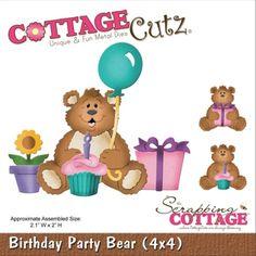 Cottage Cutz Birthday Party Bear Cutting Die