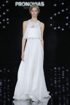 wedding dress from Atelier @Pronovias 2017 collection #PronoviasFashionShow #BarcelonaBridalWeek
