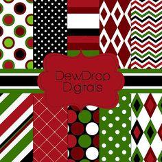 INSTANT Download Digital Scrapbooking Paper by DewDropDigitals, $2.99