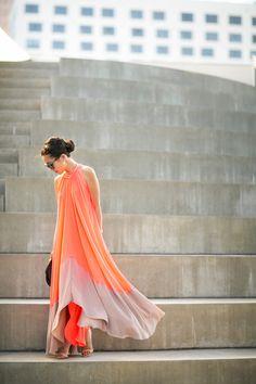 Summer Dance :: Coral trapeze dress