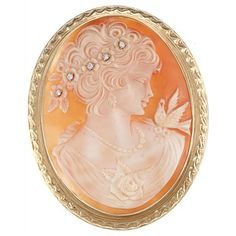 @Overstock - This beautiful estate brooch showcases a detailed cameo design on shell accentuated by glittering white diamonds. This jewelry is crafted of 14-karat yellow gold and fastens with a pin, along with a bail so it can be worn as a pendant.http://www.overstock.com/Jewelry-Watches/14k-Gold-Shell-Cameo-and-1-8ct-TDW-Diamond-Estate-Brooch-G-H-SI1-SI2/6622536/product.html?CID=214117 $1,859.99