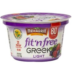 Mehadrin Fit N Free Greek Light Mixed Berry, 5.3 Oz