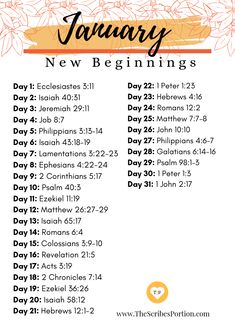 Monthly Scripture Verses - The Scribe's Portion # monthly bible study plans Monthly Scripture Verses