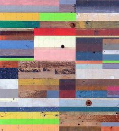 by duncan johnson, reclaimed wood painting