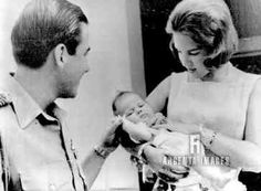 argentaimages:  King Constantine, Queen Anne-Marie and baby Alexia, August 30, 1965