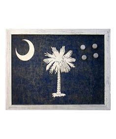 Look what I found on #zulily! South Carolina Flag Framed Canvas Magnetic Bulletin Board #zulilyfinds