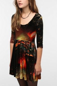 Evil Twin Outer Limits Velvet Skater Dress - Love the velvet.