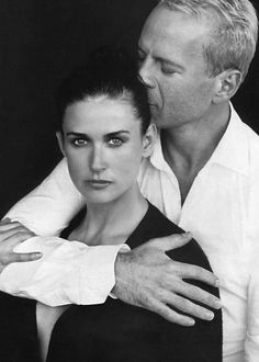 THE WAY THEY WERE - Demi Moore & husband Bruce Willis