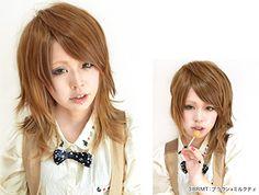 Amazon.co.jp: 【5色】【ツートンミディアムウルフ】リナリア 耐熱 ウィッグ wig フルウイッグ ミディアム メンズ 自然 ネット付【HM4-BRMT】: 服&ファッション小物通販