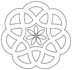 Designs to print simple mandalas simple mandala coloring pages pour Stained Glass Patterns, Mosaic Patterns, Embroidery Patterns, Mandala Coloring, Colouring Pages, Coloring Books, Adult Coloring, Mandala Drawing, Mandala Art