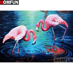 HUACAN DIY Diamond Painting Flamingo Diamond Embroidery Animals Full Square/Round Drill Mosaic Painting Birds Decoration Home Art Prints, Diamond Painting, Flamingo Art, Painting, Art, Beautiful Mermaids, Pink Bird, Painting Frames, Easy Paintings