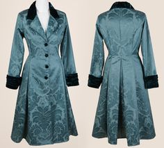 Green Brocade Coat - The Dark Angel Design Co