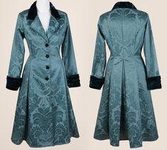 Green Brocade Coat - The Dark Angel Design Co