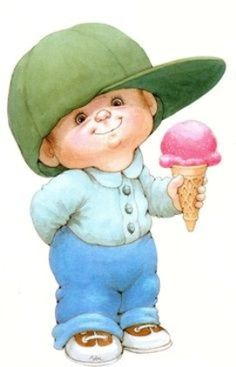 Little Boy, In Baseball Cap, With Ice Cream Cone, ¦ Ruth Morehead School Pictures, Cute Pictures, Mig E Meg, Book Of Poems, Bless The Child, School Clipart, Boy Images, Cute Clipart, Rugrats