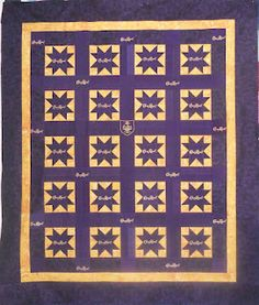 Star pattern Crown Royal quilt