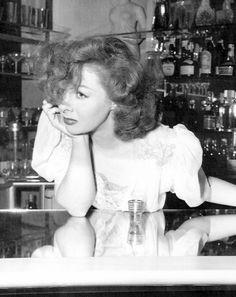 Susan Hayward at a bar, 1940's