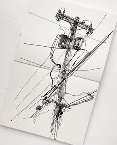 New line Draw (ink on paper) … (at San Francisco, California) Sketchbook Drawings, Ink Pen Drawings, Drawing Sketches, Pole Art, Artist Aesthetic, Sketchbook Inspiration, Urban Sketching, Ink Illustrations, Ink Art
