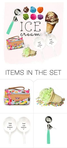 """""""Ice cream!"""" by hopskipjumppaper ❤ liked on Polyvore featuring art"""