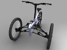Triciclo Kamikaze - The Triciclo Kamikaze isn't your typical tricycle. Forget about the traditional training wheels for little ones, this ride looks more like a m. Tricycle Bike, Trike Motorcycle, Cool Bicycles, Cool Bikes, E Quad, E Biker, Velo Cargo, Recumbent Bicycle, Reverse Trike