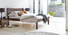 Slatted bed, stylish wood bed | Warren Evans