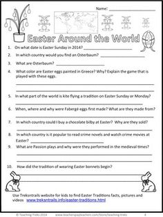 Free Easter Activities: Easter Traditions FREEBIE contains 2 printable task cards, an Easter Internet Quiz, 5 Easter Traditions word cards and a link to my free Easter Traditions online pathfinder to help kids locate quality Easter websites quickly