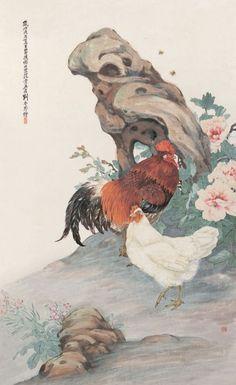 刘奎龄工笔画鸡精选1 - 天际凡尘 - 天际凡尘