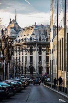Octav Dragan — in Bucharest, Romania. Beautiful Castles, Beautiful Places, Places Around The World, Around The Worlds, Ukraine, Little Paris, Bucharest Romania, World Cities, Beautiful Architecture